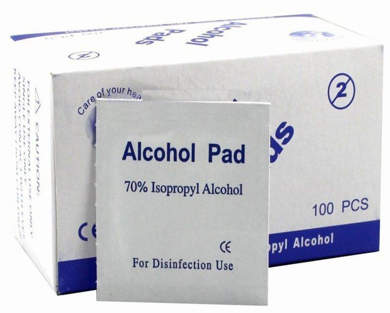 isopropyl alcohol wipes to clean portable and desktop vaporizers