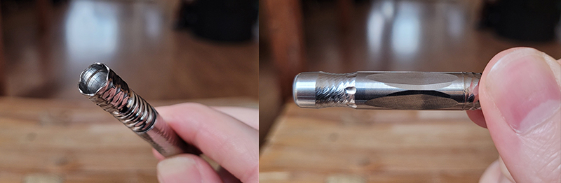 The tip and mouthpiece of the new DynaVap 2021 'M' vaporizer