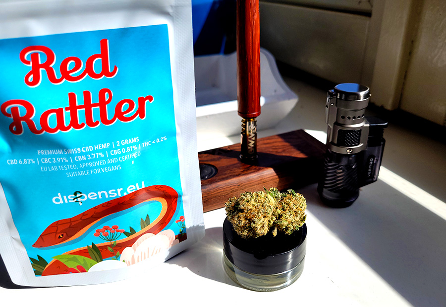 Red Rattler, a new CBD-rich non-psychoactive cannabis strain by Dispensr